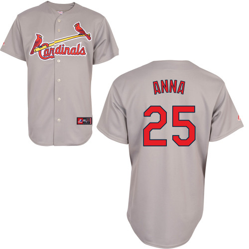 Dean Anna #25 Youth Baseball Jersey-St Louis Cardinals Authentic Road Gray Cool Base MLB Jersey